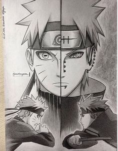 Pain & Naruto  Art by @arteya on Instagram