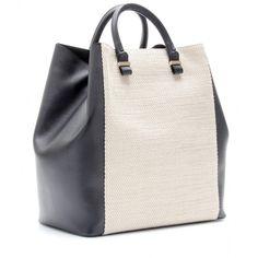Victoria Beckham Canvas And Leather Shopper ($1,495) via Polyvore