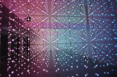 Submergence installation with 8,064 lights by Squidsoup.
