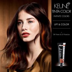 NEW FROM KEUNE:TINTA LIFT & COLOR A unique formula that helps you create beautiful contrast shades.  Lifts up to 4 levels on natural or colored hair, with the most intense red shades in the Tinta Color range. Speak to your Keune Salon Consultant today