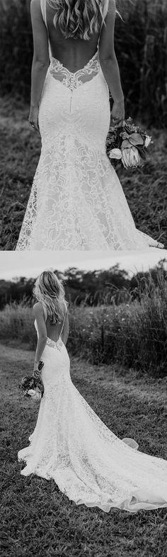 Daniela Visnjic saved to Future WeddingSexy low back wedding gown #weddingideas #weddingdressideas #weddingdresses #weddingdressgoals