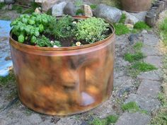 Recycled Planter dryer drum