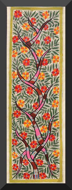 Madhubani Painting -  The Tree of Life
