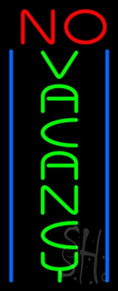 Animated No Vacancy Neon Sign 32 Tall x 13 Wide x 3 Deep, is 100% Handcrafted with Real Glass Tube Neon Sign. !!! Made in USA !!!  Colors on the sign are Blue, Red and Green. Animated No Vacancy Neon Sign is high impact, eye catching, real glass tube neon sign. This characteristic glow can attract customers like nothing else, virtually burning your identity into the minds of potential and future customers.