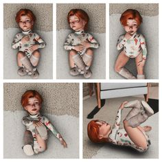 """lustrousims: """" Lustrousims - solo toddler poses 4 poses total - all on the floor, but if you raise the teleporter, you can pretty much make them pose anywhere. also works with newborn. Sims 4 Family, Toddler Poses, Pretty, Collection, Kid Poses"""