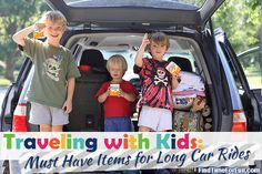 #Traveling_with_Kids – Must Have Items for Long Car Rides - Between visiting out of state family and friends and our annual vacation we take between 3-5 long road trips each year.  The length of the trips range from 8-12 hours and with each experience we've learned a few more tips for traveling as a family.  Below are our recommendations for what to pack for long car rides when traveling with young children.