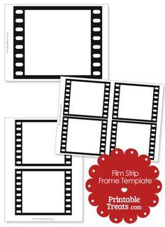 Printable Vertical Filmstrip Frame Template