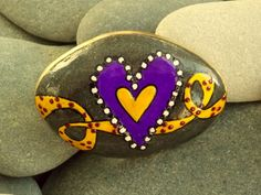 A Yellow Ribbon / Painted Rock / Sandi Pike Foundas / Cape Cod via Etsy