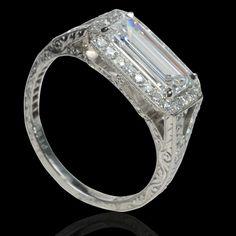 1.08ct emerald-cut diamond.  Contemporary.  Hancocks & Co (Jewellers) Ltd.
