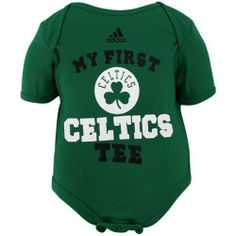 NBA adidas Boston Celtics Newborn My New First Creeper - Kelly Green (6-9 Months) by adidas. $17.95. Rib-knit collar, cuffs & leg holes. Lightweight ribbed creeper. Three snaps at bottom. Screen print graphics. Lap shoulder neckline. adidas Boston Celtics Newborn My New First Creeper - Kelly GreenThree snaps at bottomImported100% CottonLap shoulder necklineRib-knit collar, cuffs & leg holesLightweight ribbed creeperScreen print graphicsOfficially licensed NBA pro...