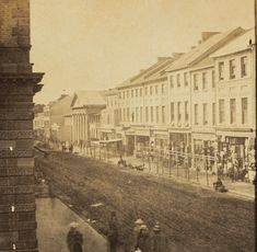 George Street,Sydney looking north from near King Street in c1860.A♥W