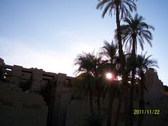 Karnak Temple at sunset
