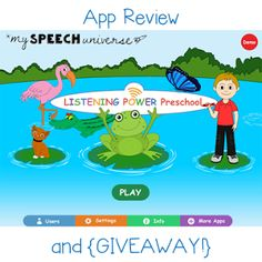 Speech Universe: Listening Power Preschool App-Review and {GIVEAWAY} Ends 6/18/15. Pinned by SOS Inc. Resources. Follow all our boards at pinterest.com/sostherapy/ for therapy resources.