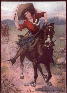 Old West postcard.