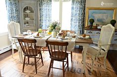 perfect vintage eclectic dining area