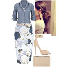A fashion look from January 2015 featuring Silver Jeans Co. tops, Hallhuber tops and River Island skirts. Browse and shop related looks.