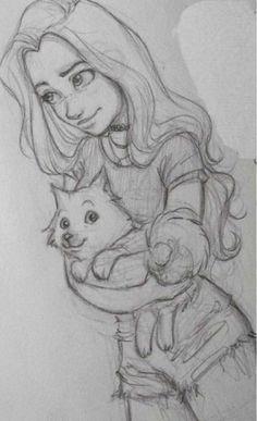 Fabulous Drawing On Creativity Ideas. Captivating Drawing On Creativity Ideas. Girl Drawing Sketches, Art Drawings Sketches Simple, Cat Drawing, Drawing People, Cool Drawings, Painting & Drawing, Cute Drawings Of People, Manga Girl Drawing, People To Draw