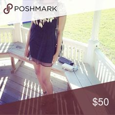 Nasty gal sheer overlay dress Beautiful metallic appliqué. Will include plain black slip dress. Price is firm Nasty Gal Dresses Mini