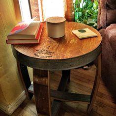 Kathleen Kaufman added a photo of their purchase Bourbon Whiskey, Whiskey Barrels, Bourbon Barrel Furniture, Jack Daniels Barrel, White Oak Barrels, Home Brewing, Distillery, Furniture Making, Beams