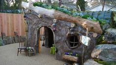 Playhouse...so cute, reminds me of something that would be in Lord of the Rings!