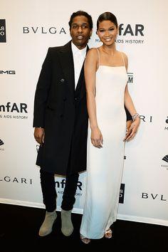 Chanel Iman (y ASAP Rocky) en amfar14