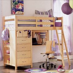 Loft Beds For Teens Girls - Bing Images. cute it has everything. a dresser, a desk, and a bed!