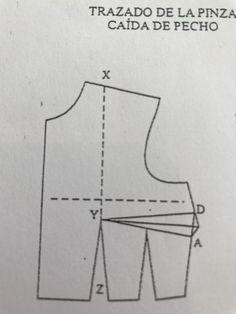 Paso a paso: confeccionar el patrón del corpiño de fallera (parte 3) – Como anillo al dedal – Confección privada y a medida Line Chart, Triangle, Sewing, Pattern, Dresses, Dress Template, Sewing Patterns Free, Dress Patterns, Hand Embroidery
