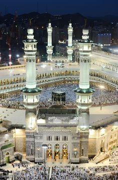 Masjid Haram, Mecca Masjid, Mecca Wallpaper, Islamic Wallpaper, Islamic World, Islamic Art, Islamic Quotes, Beautiful Mosques, Beautiful Places