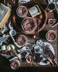 chocolate goat cheese soufflés. Instagram @evakosmasflores