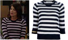 How I Met Your Mother: Season 8 Episode 1 Robin's Striped Watch Sweater   ShopYourTvShopYourTv