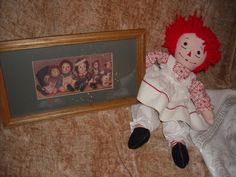 """primitive LOT raggedy ann andy doll picture clown vintage toys decorationfor sale in my store The Chic N Prim cottage ebay have to put in the """"the """" in search engine $18 FREE Shipping when you spend $30 or more!"""