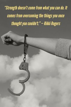 """""""Strength doesn't come from what you can do. It comes from overcoming the things you once thought you couldn't."""" — Rikki Rogers #MondayMotivation #motivationalquotes #courage #quotes"""