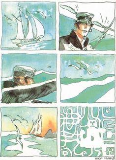 ..._Corto Maltese, Book Creator, Ligne Claire, Bd Comics, Comic Page, Animated Cartoons, Graphic Art, Graphic Novels, Comic Artist