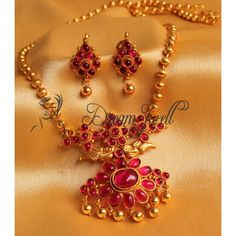 Jewellery - Buy Indian Imitation Jewelry Sets Online for Women Gold Earrings Designs, Gold Jewellery Design, Gold Designs, Necklace Designs, Antique Necklace, Antique Jewelry, Gold Jewelry Simple, India Jewelry, Temple Jewellery