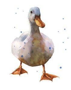 Znalezione obrazy dla zapytania watercolor duck