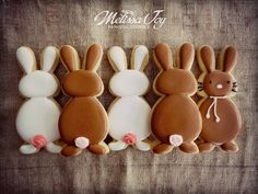 Super Sweet Easter Bunny Cookies; inspiration only; no tutorial