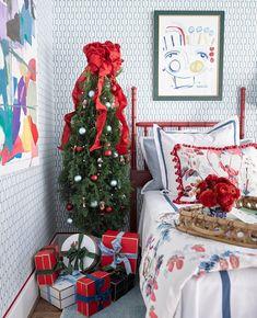 Blue Christmas Decor, Christmas 2017, Christmas Tree, Holiday Decor, Christmas Displays, Nautical Christmas, Christmas Colors, Art Deco Chandelier, Atlanta Homes