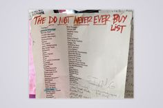 Chicago Record Store Leaks Hilarious 'Do Not Never Ever Buy' List | SPIN | Newswire