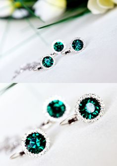 Hey, I found this really awesome Etsy listing at https://www.etsy.com/listing/159992989/emerald-green-chic-jewelry-set-art-deco