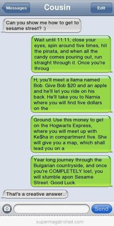 Epic text How to get to sesame street - Funny Text - - Page 214 Autocorrect Fails and Funny Text Messages SmartphOWNED The post Epic text How to get to sesame street appeared first on Gag Dad.