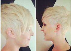 Short blonde boy cut for straight fine hair