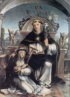 St Dominic enthroned