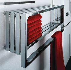 Radiátor může sloužit jako police na ručníky;AquaTrade Radiators, Police, Towel, Sweet Home, Bathroom, Inspiration, Design, Home Decor, Attitude