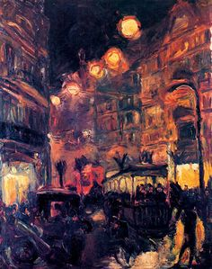 Max Beckmann: Straße bei Nacht, 1913. Öl auf Leinwand, 90 x 70 cm. Privatbesitz. © VG Bild-Kunst, Bonn 2015
