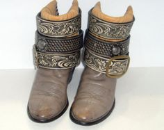 Único botas de cuero Rodeo Festival concierto por JackalopesLtd