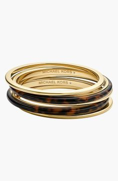 Tortoise + Gold Bangle Set