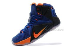 79ad6f22c7a Online Sale Nike LeBron 12 Hyper Blue Black-Orange For Cheap