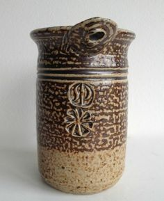 STUDIO POTTERY VASE BY JOHN MALTBY, STONESHILL POTTERY - SP mark