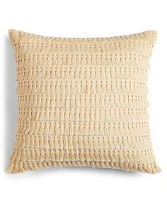 "Whim by Martha Stewart Collection Fringe Benefits 18"" Square Decorative Pillow, Only at Macy's - Decorative & Throw Pillows - Bed & Bath - Macy's"
