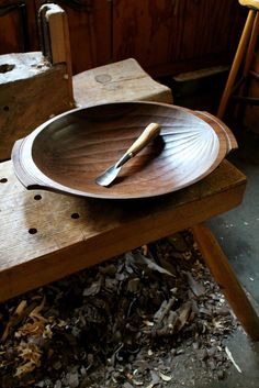 David Fisher, walnut bowl. 2015.
